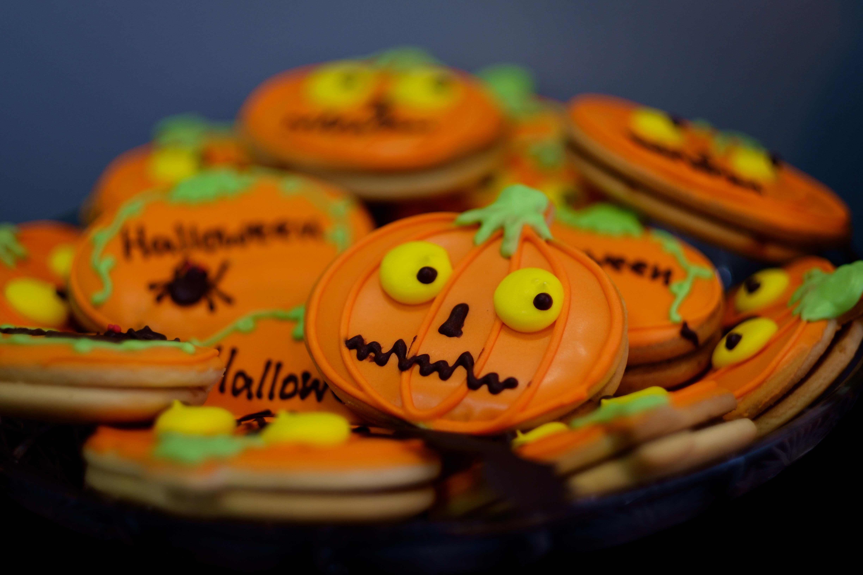 Pumpkin-shaped cookies at AgileEngine Halloween party