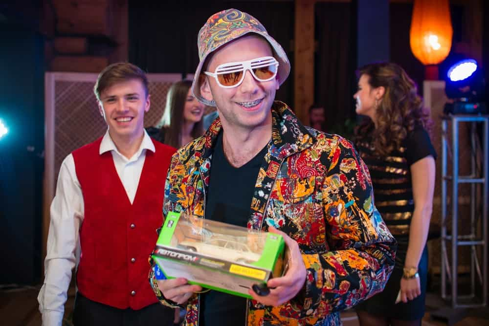 New Year's party at AgileEngine UKraine — our VP of solutions dressed as Hunter Thompson