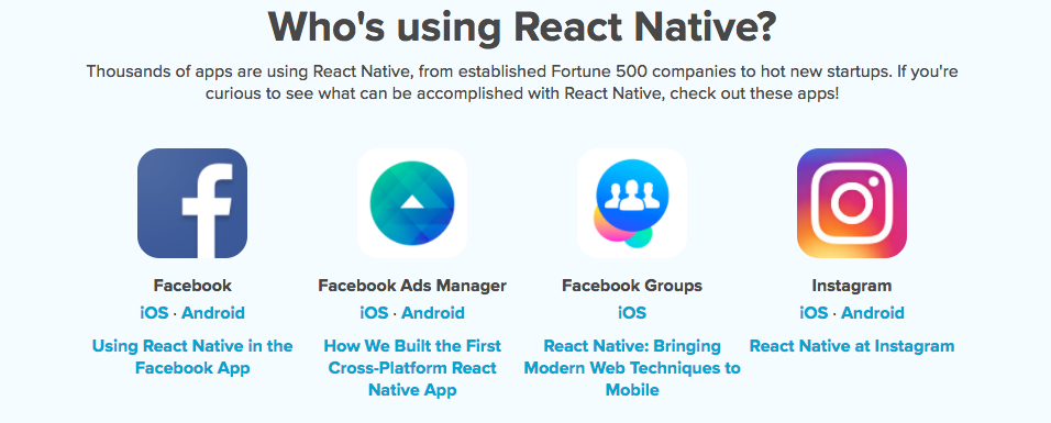 Hire React Native developers to build apps like these: showcase of React Native apps