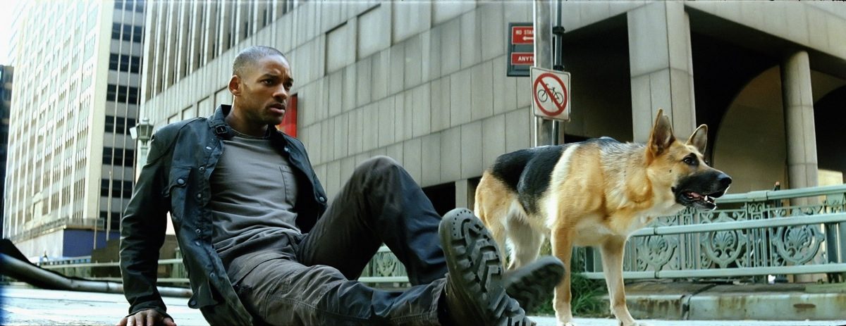 Screenshot from the I am legend movie