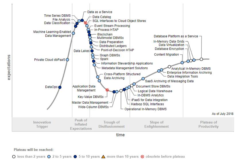 Gartner Hype Cycle for Data Management