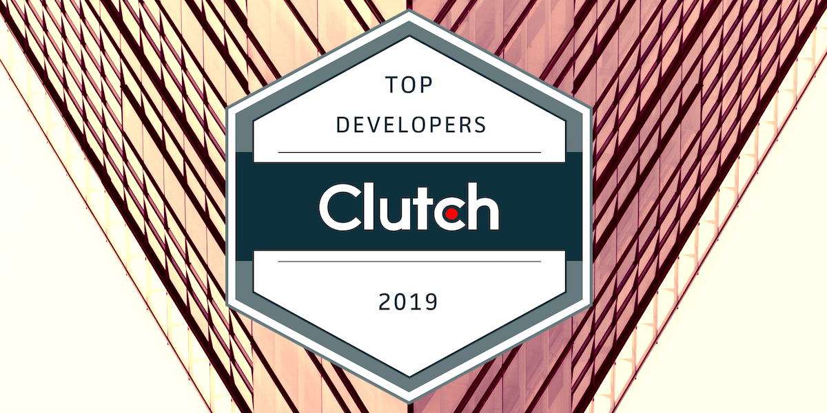 Logo for Clutch 2019 Leading Developers