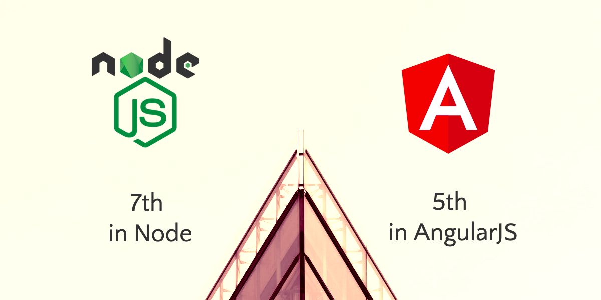 AgileEngine rankings for AngularJS (5th) and Node (7th)