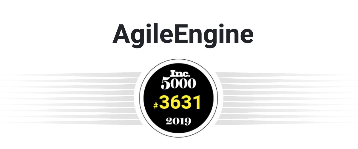 AgileEngine Ranks #3631 on the Inc 5000 List