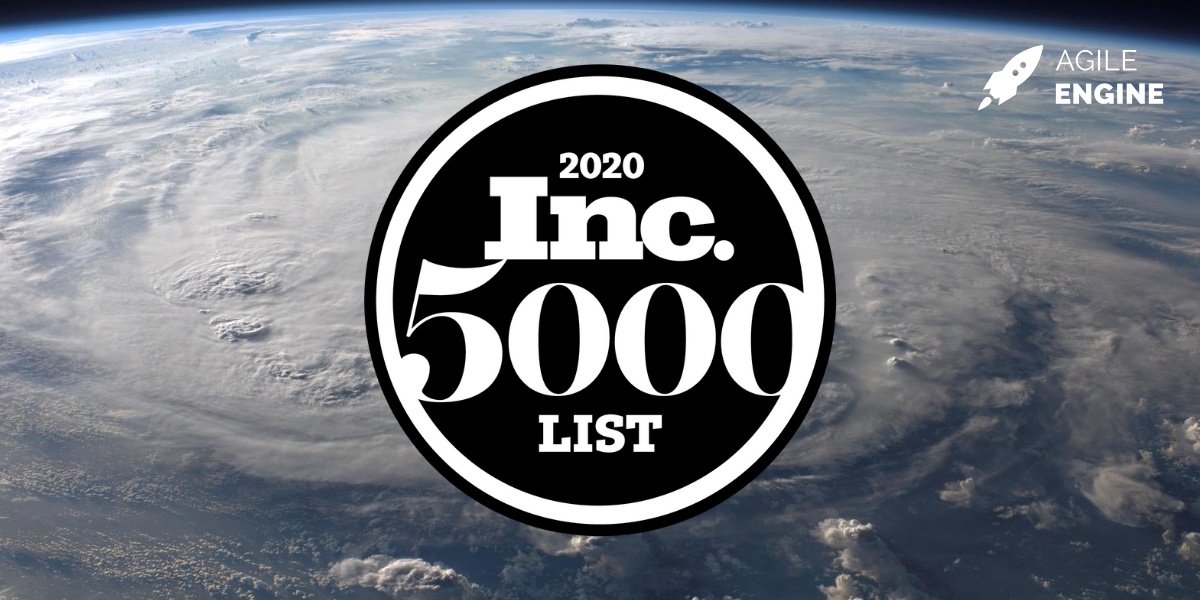 AgileEngine ranks on Inc. 5000 for 5 years in a row