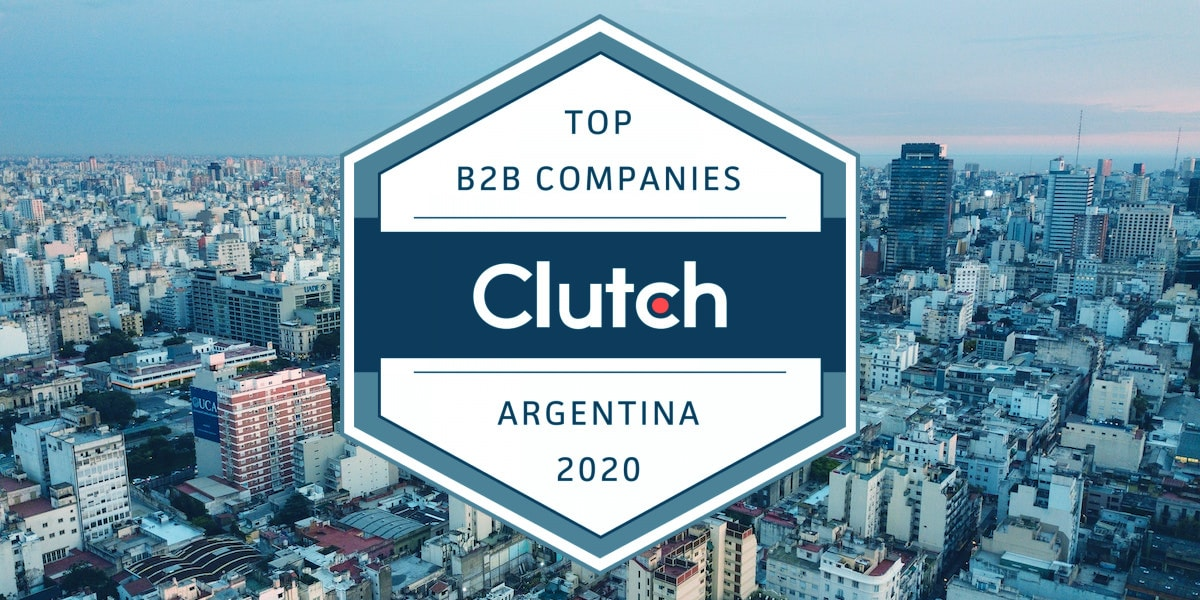 Logo of the 2020 Clutch Argentina rating of top B2B companies