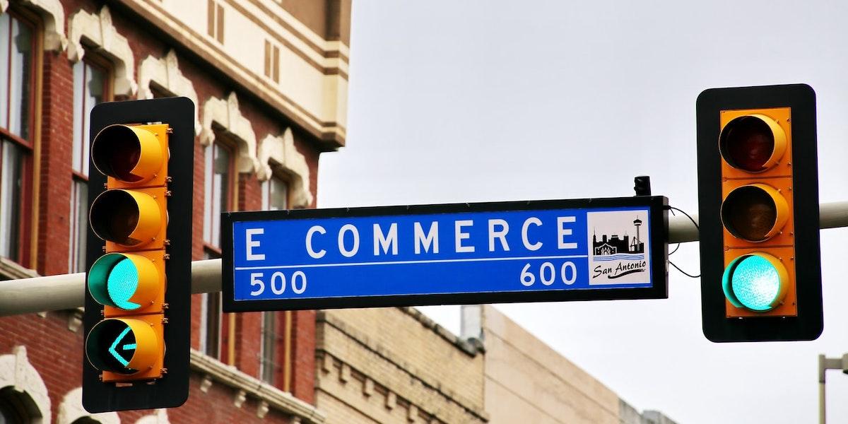 E-commerce sign in San Antonio